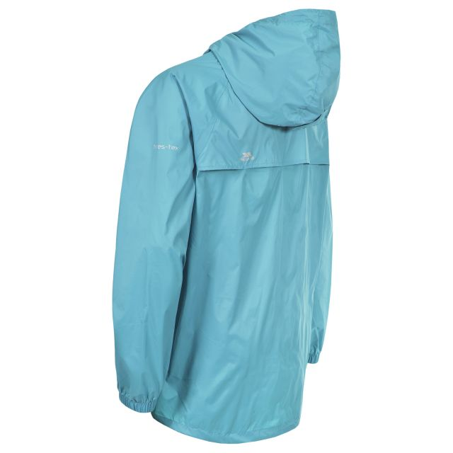 Qikpac Unisex Waterproof Packaway Jacket in Light Blue