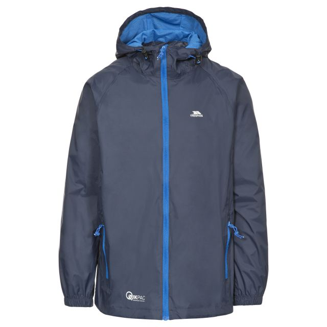 Qikpac Unisex Waterproof Packaway Jacket in Navy