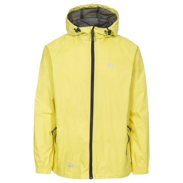Qikpac Unisex Waterproof Packaway Jacket in Yellow