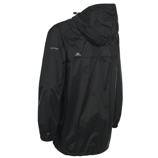 Qikpac Unisex Waterproof Packaway Jacket in Black