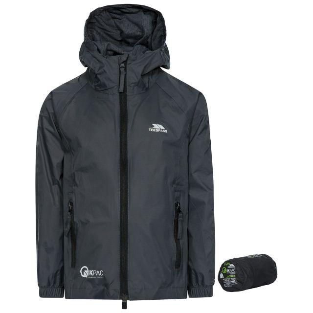 Qikpac Kids' Waterproof Packaway Jacket in Grey
