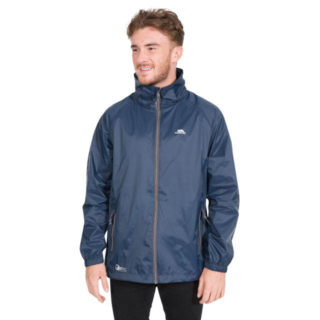Qikpac X Adults' Waterproof Packaway Jacket in Navy