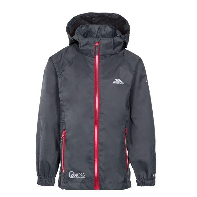 Qikpac X Kids' Waterproof Packaway Jacket in Grey