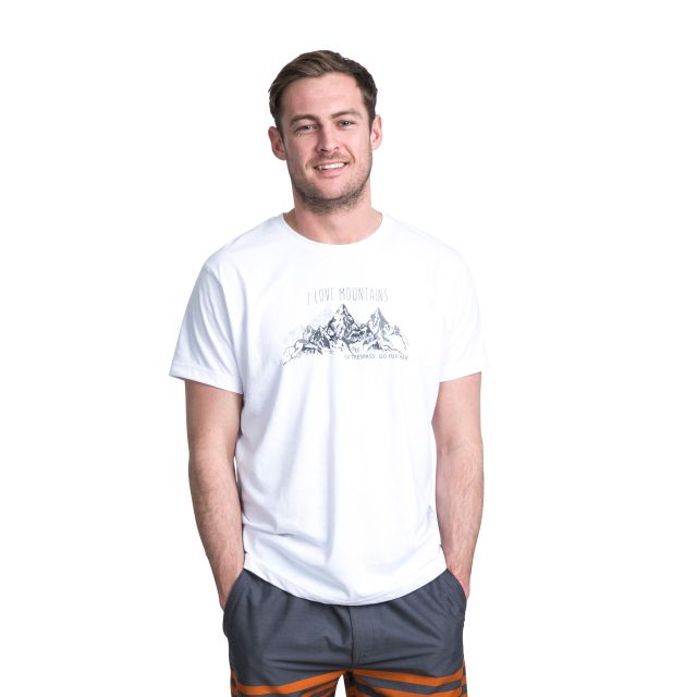 Quill Men's Printed Casual T-Shirt in White