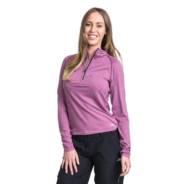Rado Women's 1/2 Zip Long Sleeve Active Top in Purple