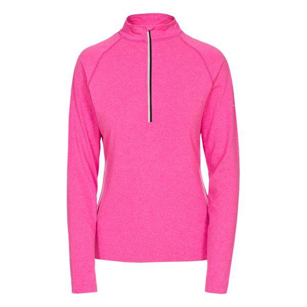 Rado Women's 1/2 Zip Long Sleeve Active Top in Pink