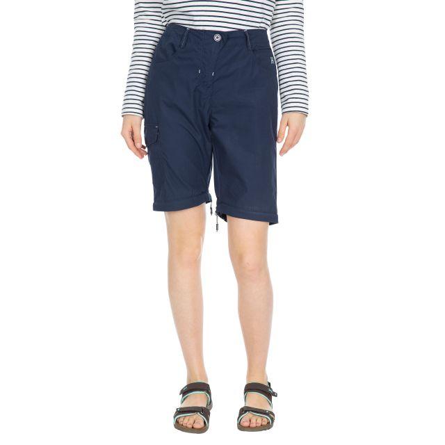Rambler Women's Zip Off Cargo Trousers in Navy