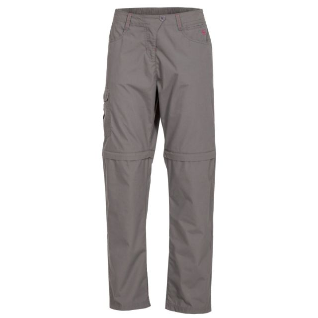 Rambler Women's Zip Off Cargo Trousers in Grey