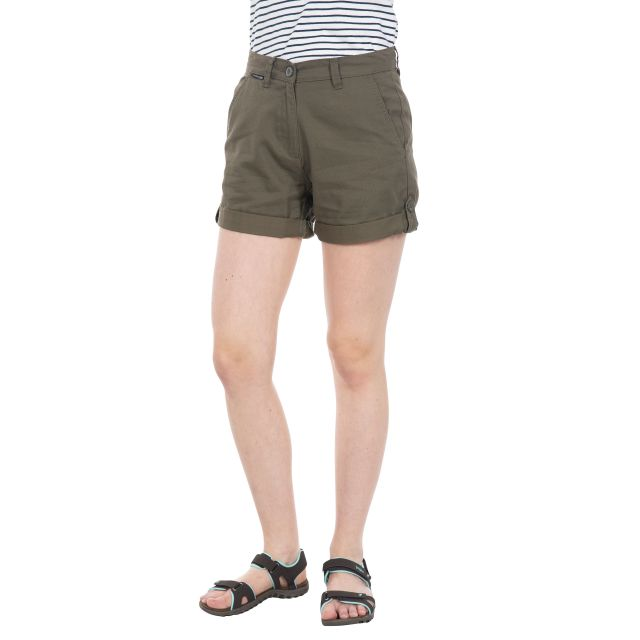 Rectify Women's Breathable Cotton Shorts in Khaki
