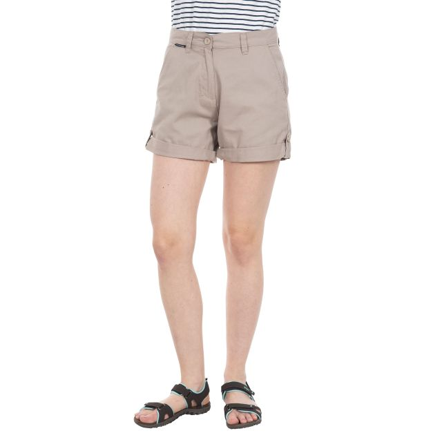 Rectify Women's Breathable Cotton Shorts in Beige