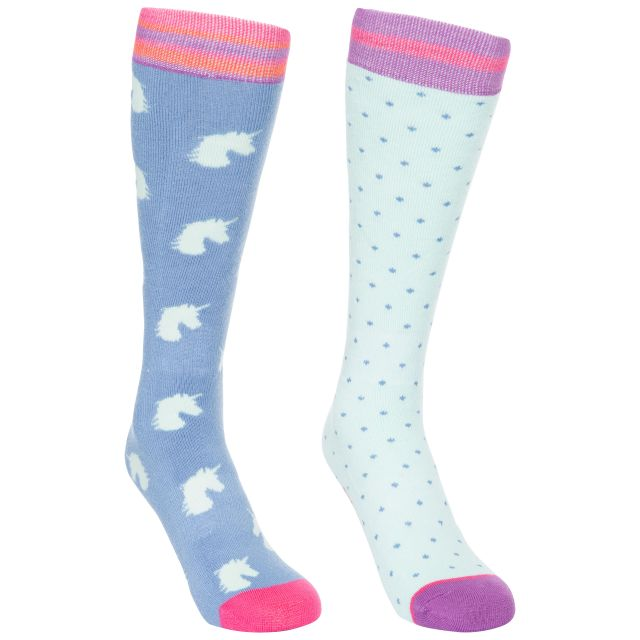 Replicate Kids' Printed Tube Socks - 2 Pack in Blue