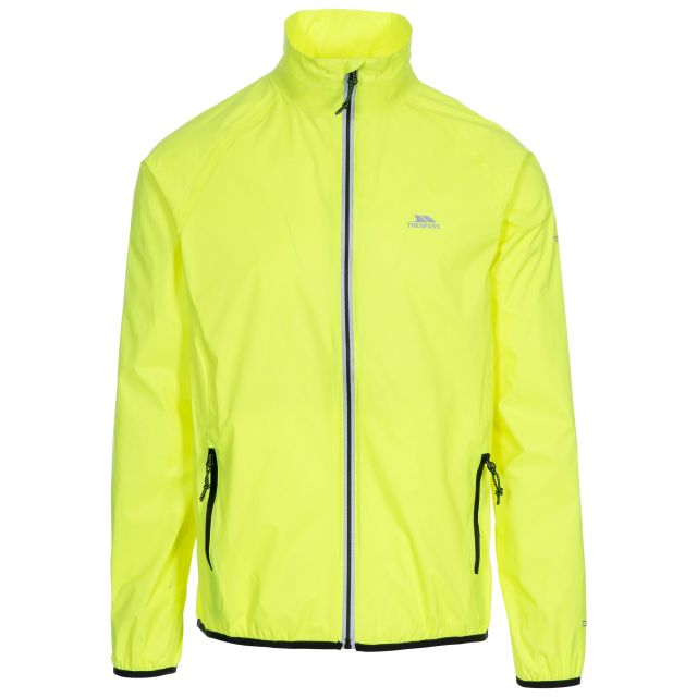 Retract Men's Hi-Vis Waterproof Packaway Jacket in Yellow