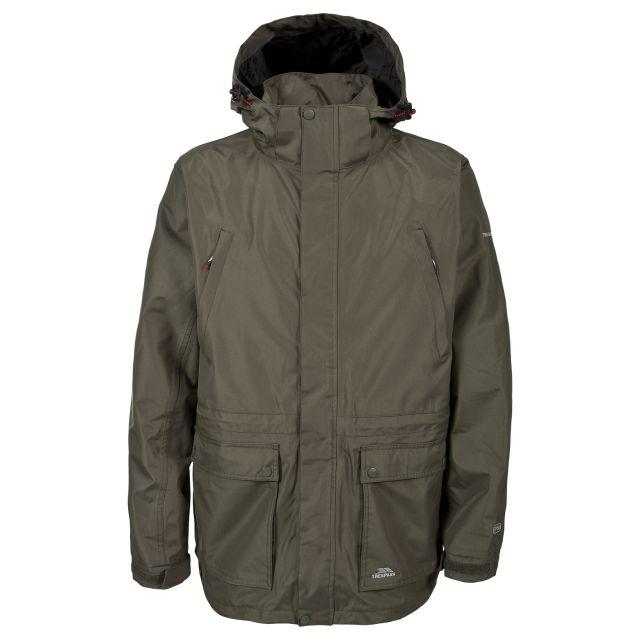 Reuben Men's Waterproof Jacket in Khaki