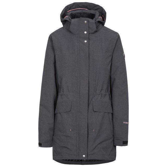 Reveal Women's Fleece Lined Waterproof Parka Jacket in Black
