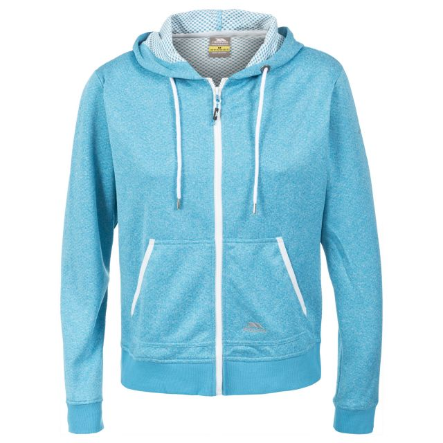 Revel Women's Full Zip Insulated Fleece Hoodie in Turquoise