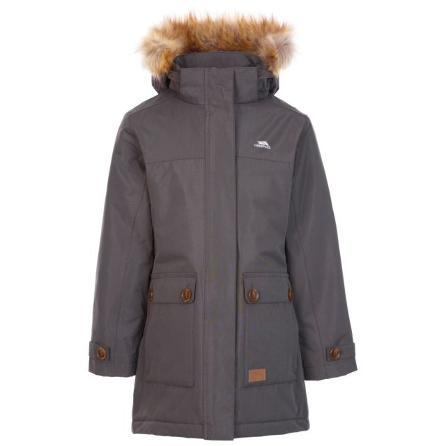 Trespass Kids' Waterproof Jacket Rhoda Grey