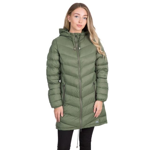 Rianna Women's Padded Casual Jacket in Green