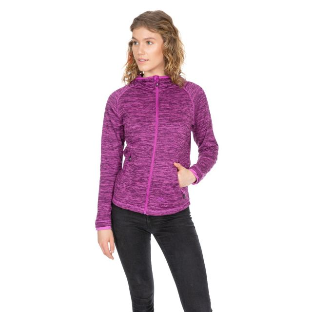 Riverstone Women's Full Zip Fleece Hoodie in Purple