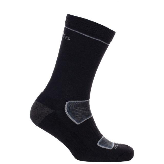 Rizzle Eco Lightweight Mid-Length Trekking Socks in Black