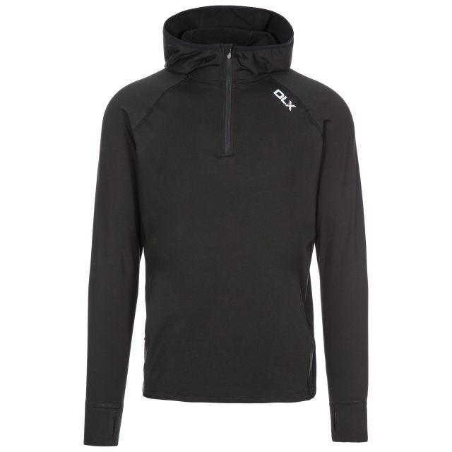Robins Men's DLX Hooded Active Top in Black