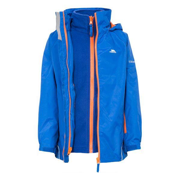Rockcliff Kids' 3-in-1 Waterproof Jacket in Blue