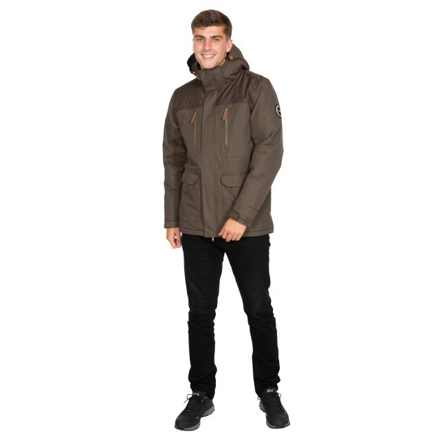 Rockwell Men's DLX Breathable Waterproof Jacket in Khaki