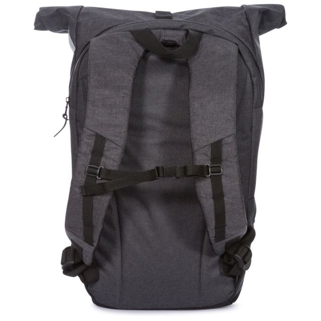 Trespass 30L Rolltop Laptop Backpack in Grey Rolla
