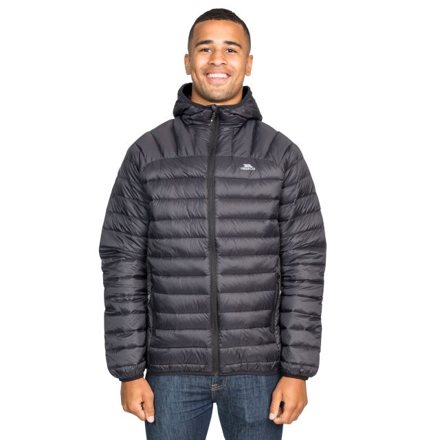 Romano Men's Down Packaway Jacket in Black