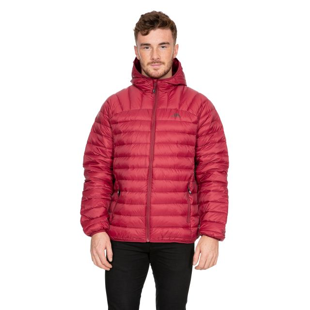 Romano Men's Down Packaway Jacket in Red