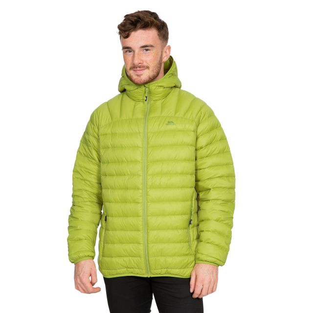 Romano Men's Down Packaway Jacket in Neon Green