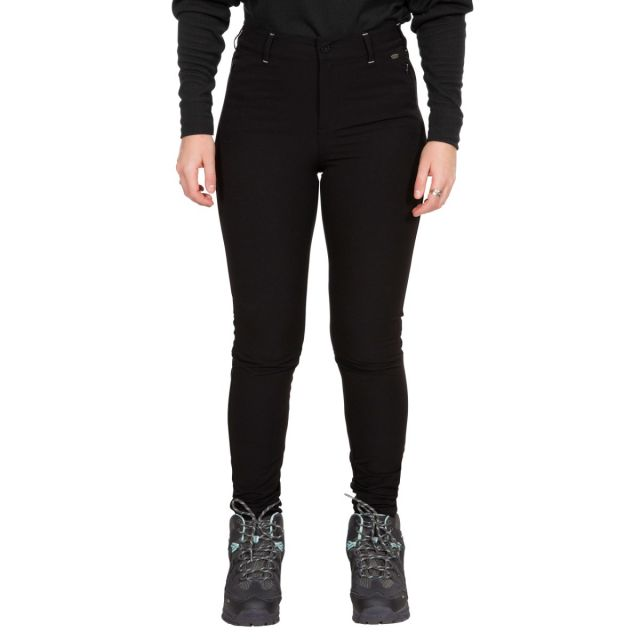 Trespass Womens Walking Trousers Water Resistant Rooted in Black