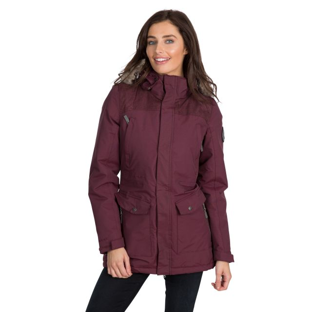 Rosario Women's DLX Waterproof Parka Jacket in Purple