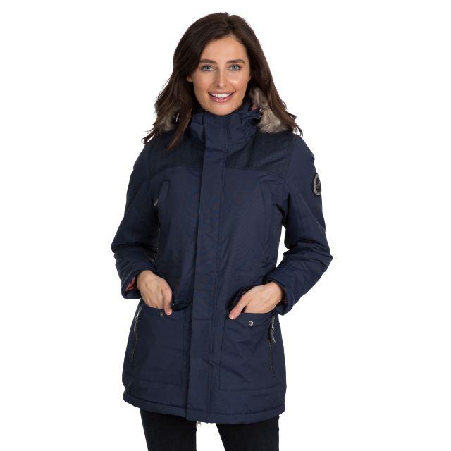 Rosario Women's DLX Waterproof Parka Jacket in Navy