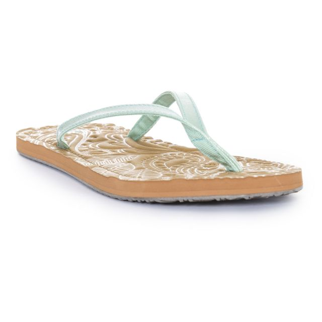 Roslyn Women's Flip Flops in Light Green