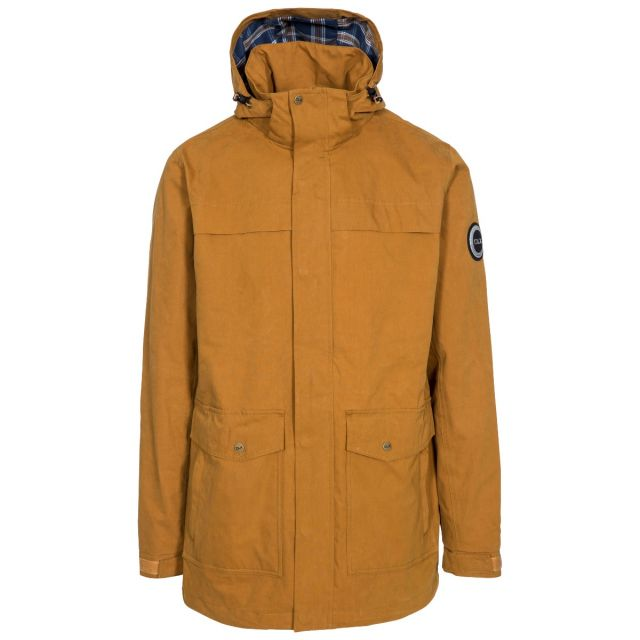 Rowland Men's DLX Casual Waterproof Jacket in Yellow