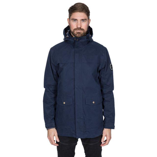 Rowland Men's DLX Casual Waterproof Jacket in Navy