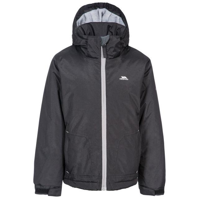 Rudi Boys' Waterproof Jacket in Black