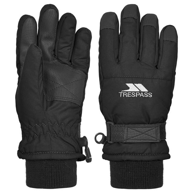 Ruri II Kids' Ski Gloves in Black