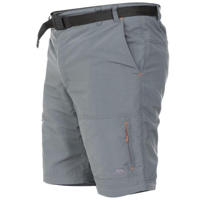 Rynne Men's Zip Off Cargo Trousers in Grey