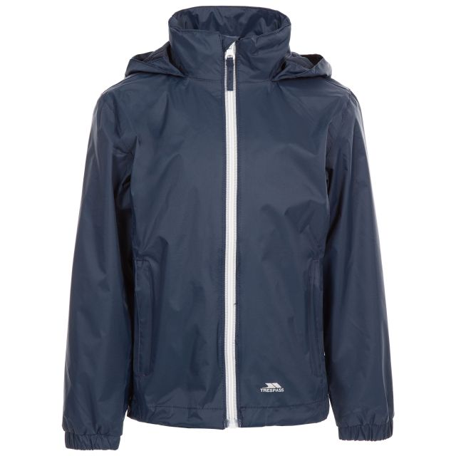 Sabrina Kids Jacket in Navy, Front view on mannequin