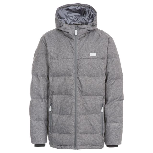 Sadler Men's Hooded Down Jacket  in Grey