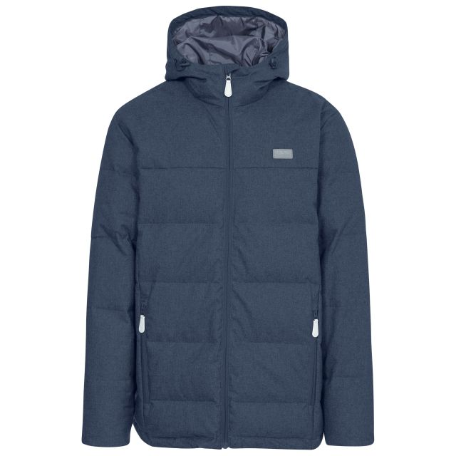 Sadler Men's Hooded Down Jacket  in Navy