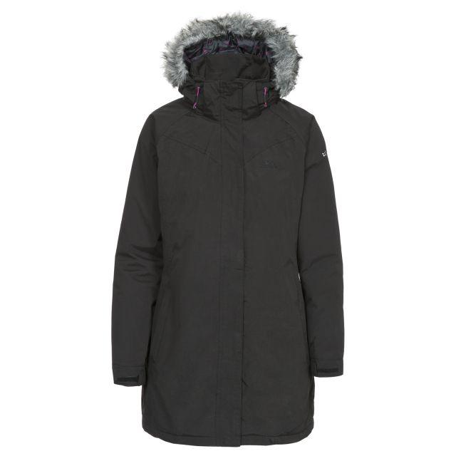 San Fran Women's Waterproof Parka Jacket in Black