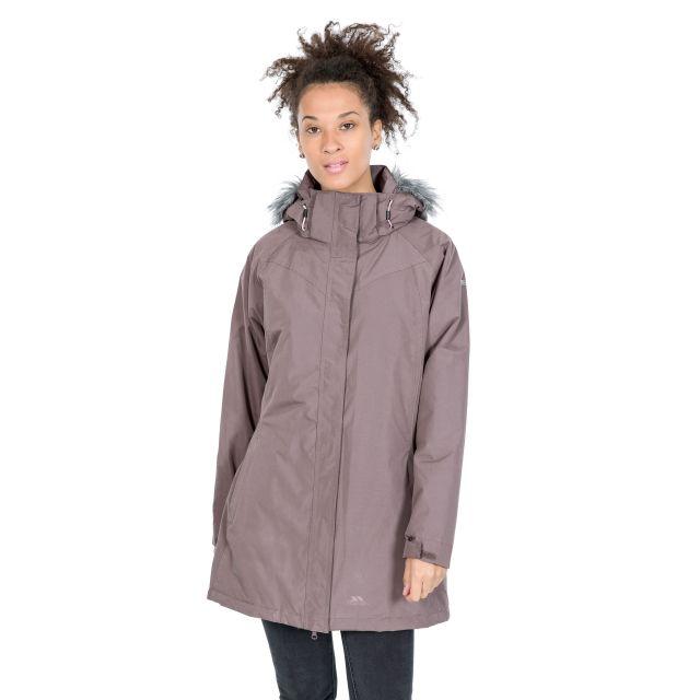 San Fran Women's Waterproof Parka Jacket in Light Purple