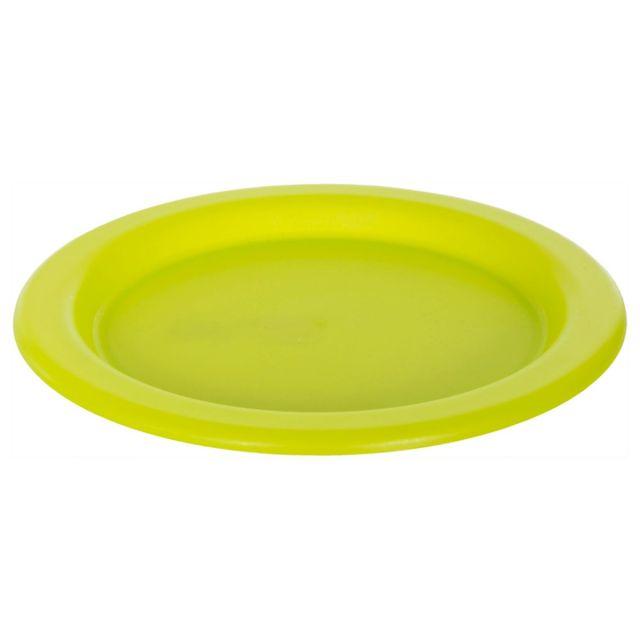Plastic Plate in Neon Green