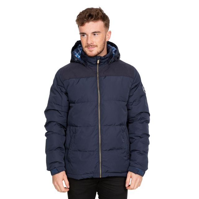 Scenery Men's DLX Hooded Down Jacket in Navy
