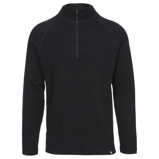 Seeker Men's 1/2 Zip Thermal Top in Black