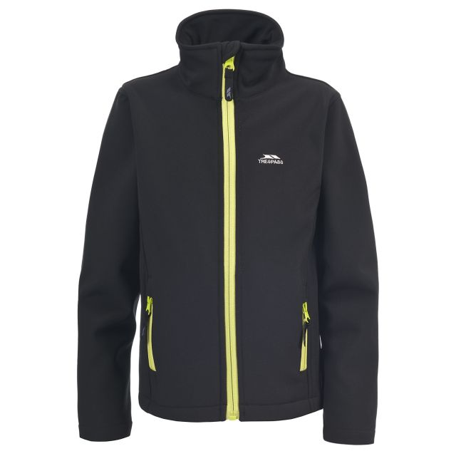Trespass Boys Softshell Jacket in Black Shae
