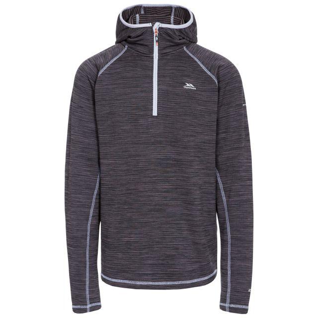 Shale Men's 1/2 Zip Hooded Fleece in Black