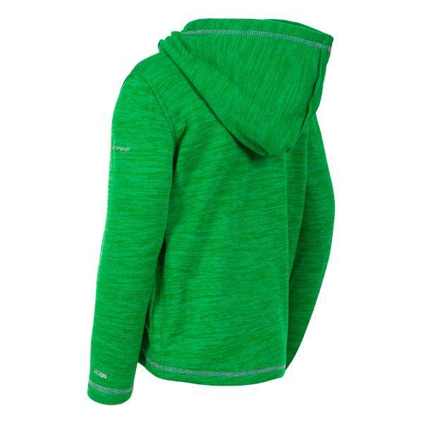 Trespass Kids Full Zip Fleece Hoodie in Green Shaw